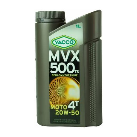 HUILE MOTEUR YACCO MVX 500 TS 4T 20W50