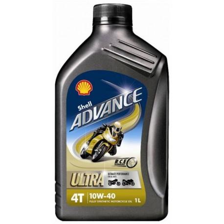 HUILE MOTEUR MOTO SHELL ADVANCE 4T ULTRA 10W40 (1L)