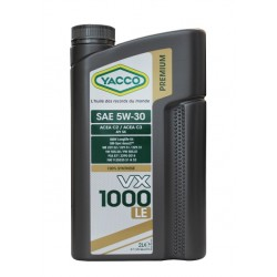 HUILE MOTEUR YACCO VX 1000 LE 5W30